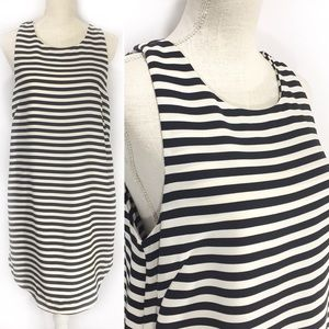NWT H&M Striped Black and White Tunic Top Sz 10